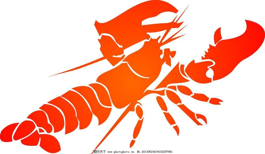 cdr 龙虾矢量图 龙虾背景 龙虾图 龙虾标志 其他生物 生物世界 矢量