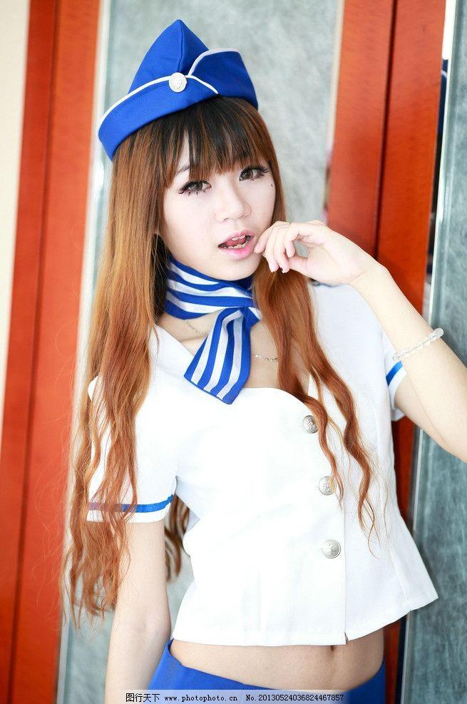 空姐制服美女图片