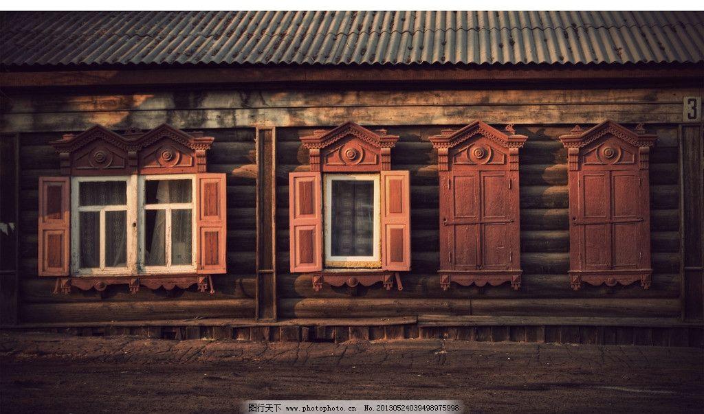 欧式建筑 窗户 玻璃 屋顶