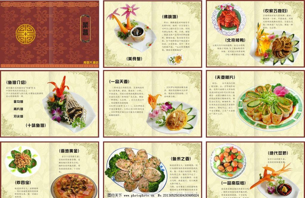 菜谱 健康 高档 干净 营养 美味 菜单菜谱 广告设计 矢量 cdr
