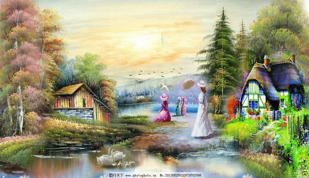 风景画 风景油画素材下载 风景油画模板下载 风景油画 油画 欧式油画