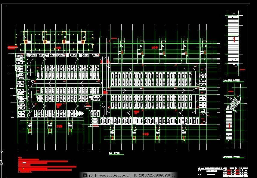 地下停车场停车位设计图片