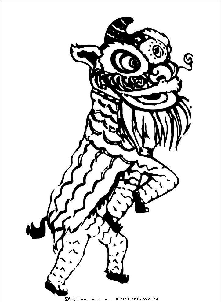 舞狮 班服 矢量 图案 节日 人物 矢量图库 广告设计 cdr