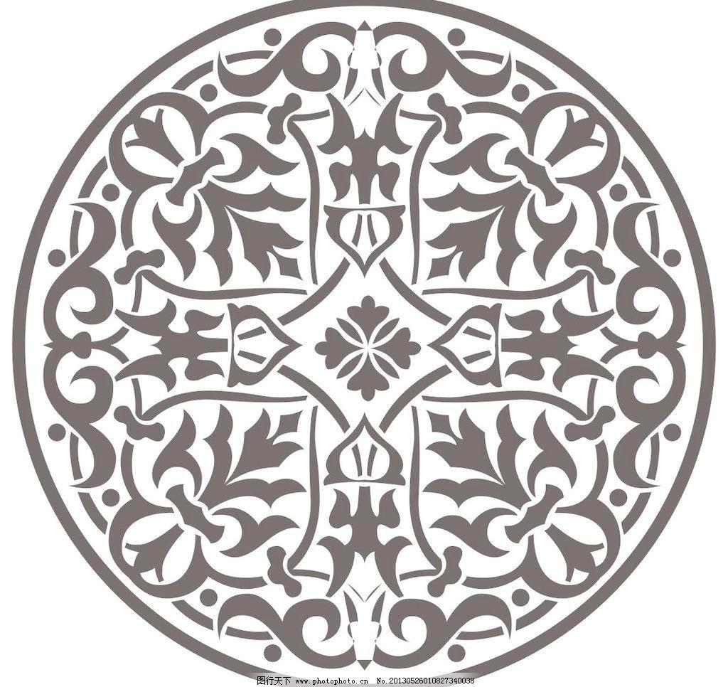 潮流 底纹 底纹背景 底纹边框 吊顶 对比 对称 黑白 简洁 欧式圆形图片