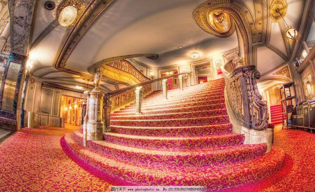 芝加哥剧院楼梯 建筑摄影 建筑园林 楼梯设计 欧式建筑 芝加哥剧院