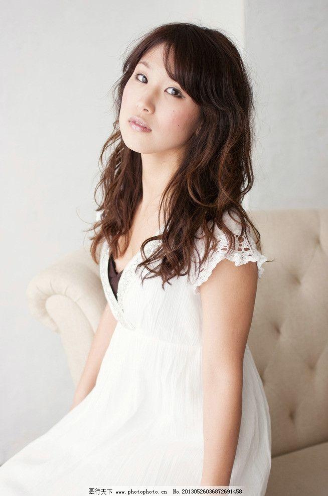 时尚美女连衣裙 气质美女 白色连衣裙 礼服 清纯美女 可爱美女