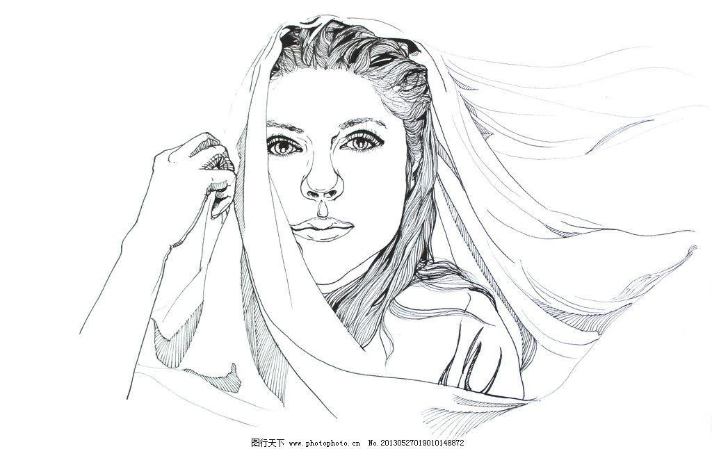 画画简单又画的美女