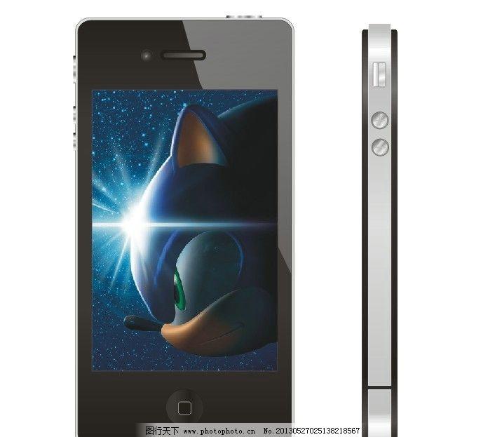 黑色 手机正面设计 侧面设计 苹果手机 通讯科技 现代科技 矢量 cdr