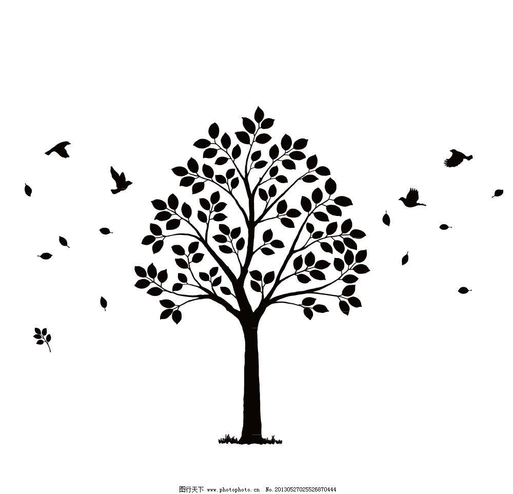 菩提树 壁纸 墙贴 雕刻图 菩提树墙贴 生活百科 生活用品 矢量 ai