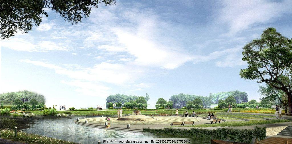 城市中心公园效果图图片_景观设计_环境设计_图行天下