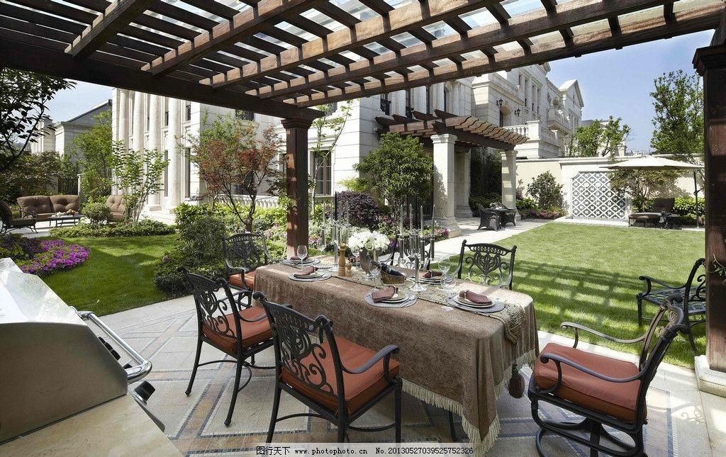 溪上玫瑰园 庭院 小区 廊架 餐桌椅 草坪 园林建筑 建筑园林 摄影 72