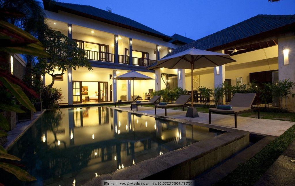 别墅 泳池图片