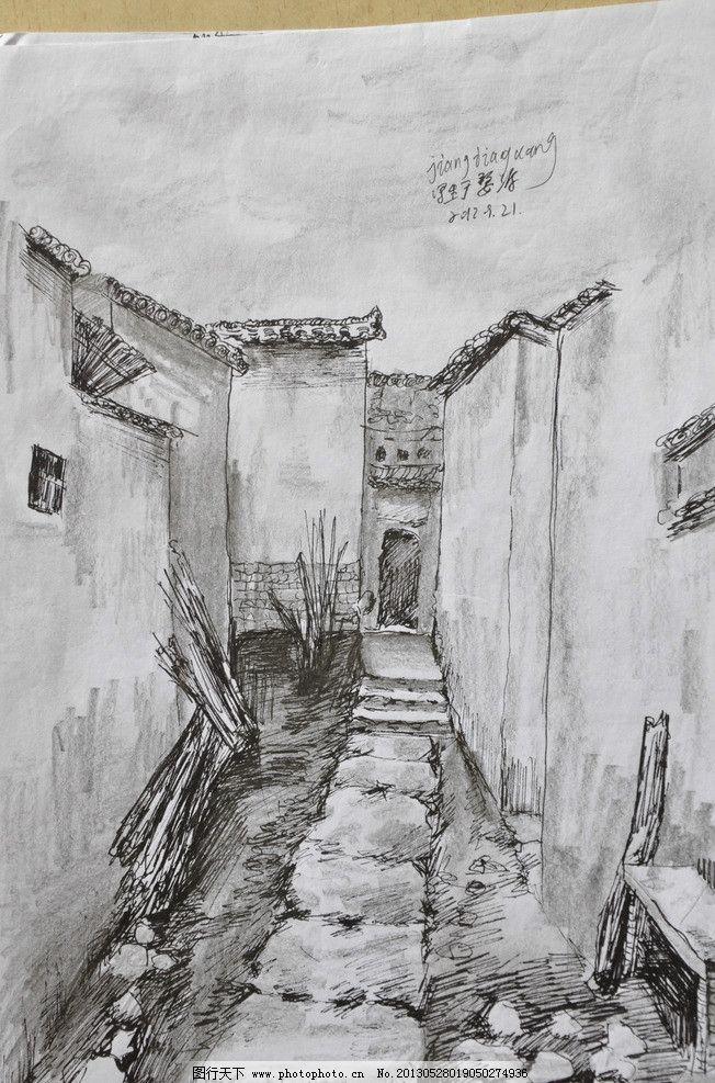 婺源写生 风景 线描 钢笔画 古建筑 速写 绘画书法 文化艺术 设计 30
