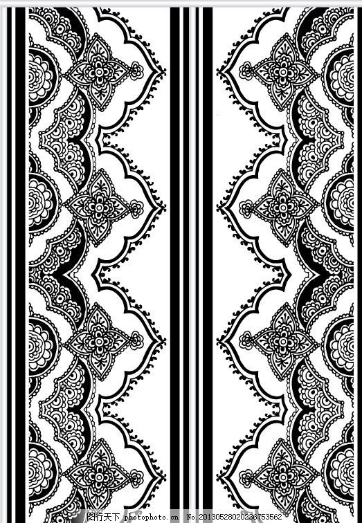 移门图案 黑白 单色 插画 背景画 无缝图案 无缝底纹 古典图案 欧式