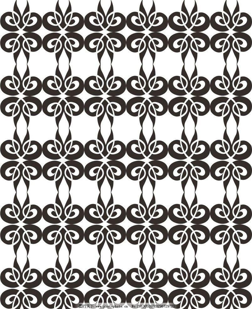 欧式潮流图案 简欧 重复 穿插 连续 对比 对称 花形 花朵 花瓣