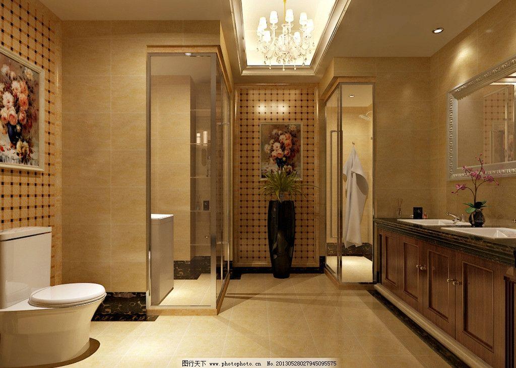 吊灯 马赛克 镜子 工艺品 石材地面 家装设计 室内设计 环境设图片