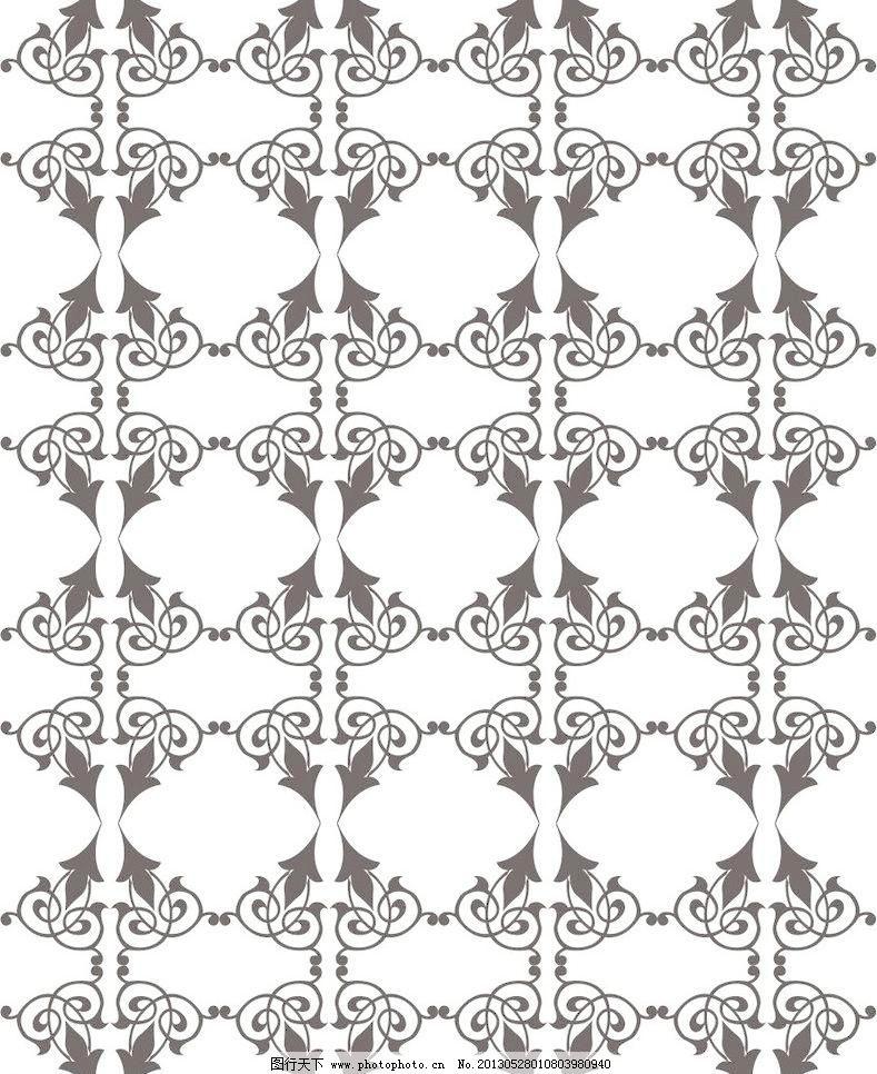 欧式艺术玻璃黑白贴图