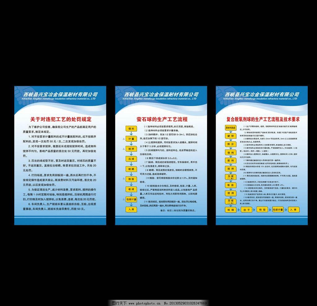 公司制度 制度牌 制度模板 蓝色 展板模板 工艺流程 其他模版 广告