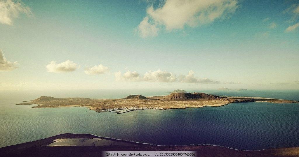 海岛风景 蓝天 白云 沙滩 美丽的自然风景 摄影