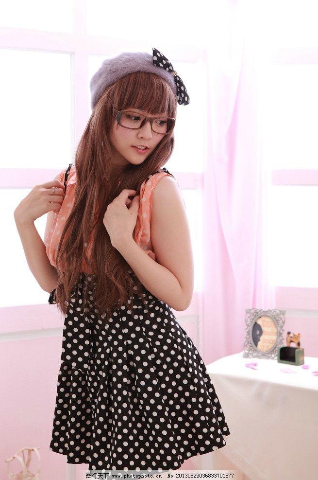 可爱眼镜妹 气质美女 清纯美女 可爱美女 小清新 长发美女 高清美女