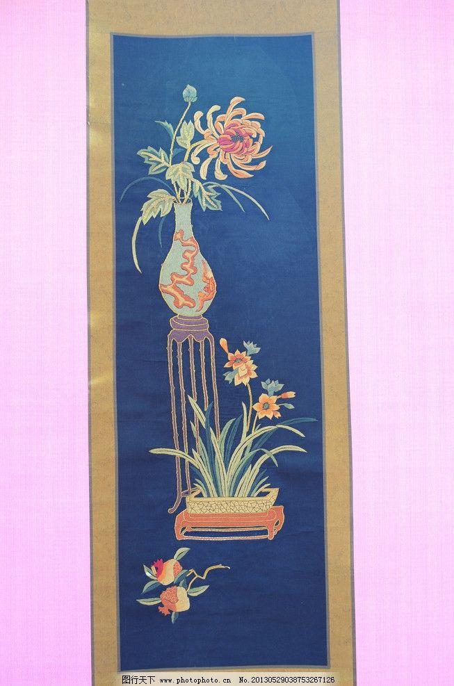 宁波金银彩绣 四条屏图片