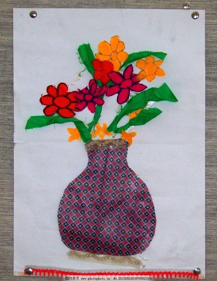 美术作品鲜花朵粘贴画图片大全-花朵立体美术作品图片