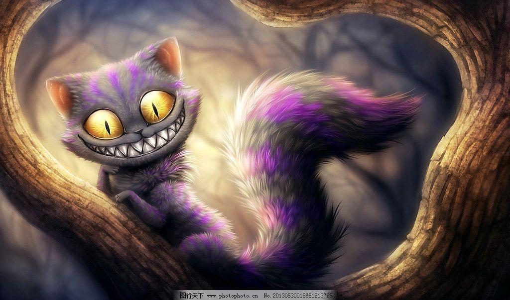 手绘猫 插画 艺术 绘画 高清壁纸 动漫动画