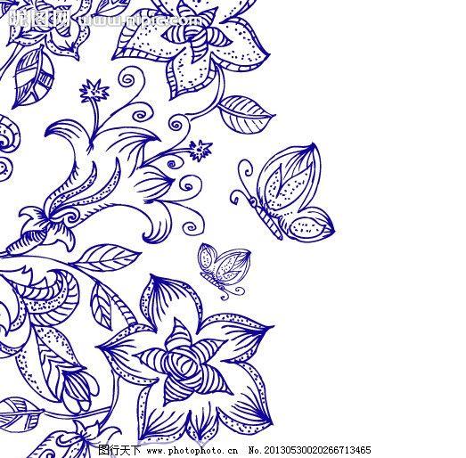 手绘花卉花纹图片