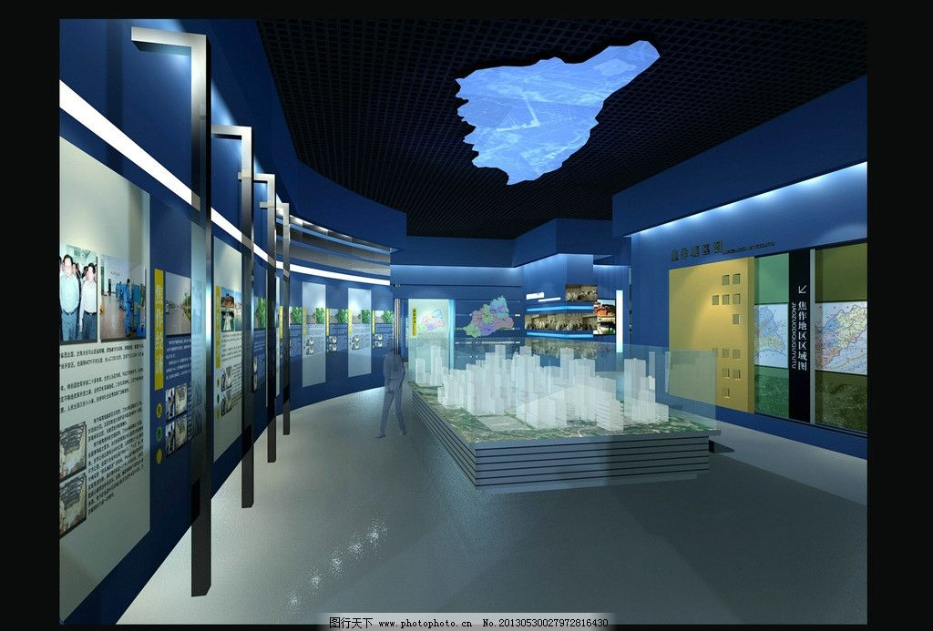 科技展厅 展厅 展厅效果图 展示 灯光        室内设计 环境设计 设计