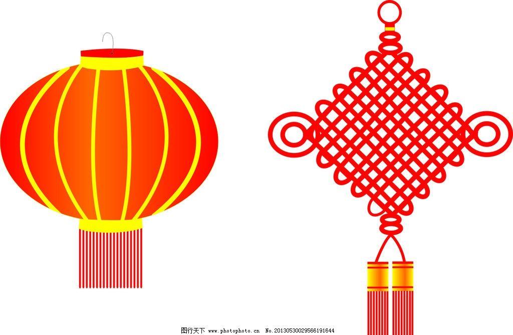 灯笼中国结 中国结 春节 灯笼 过节 矢量 广告设计 cdr