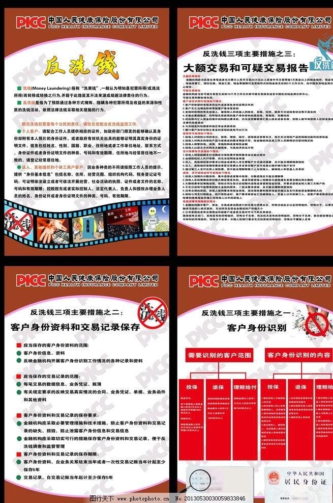 投资 中国人民健康保险 制度牌 宣传牌 展板 中国人寿保险 反洗钱三项