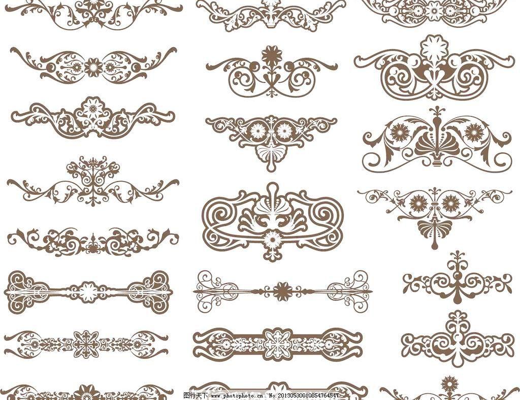 标签 波浪花纹 潮流 传统 底纹背景 底纹边框 对称 欧式花纹矢量素材