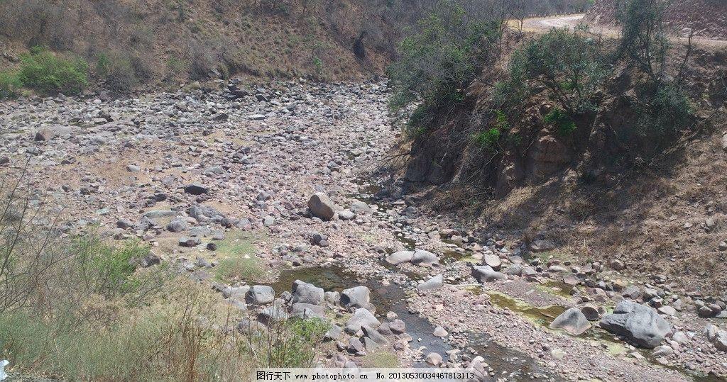 干枯的新宿江 楚雄 祿豐 游行 江邊 干旱 風景 攝影