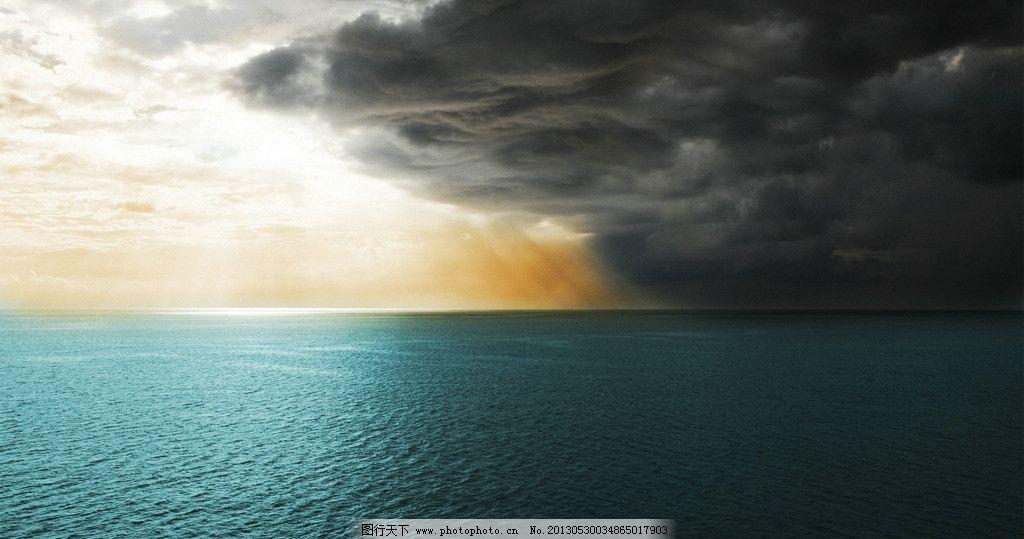 海面暴风雨 海上风景 大海 乌云 美丽的自然风景 摄影