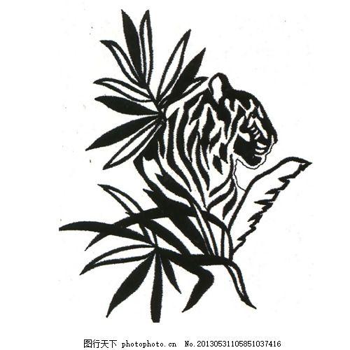 绣花 动物 植物 草 花纹 免费素材