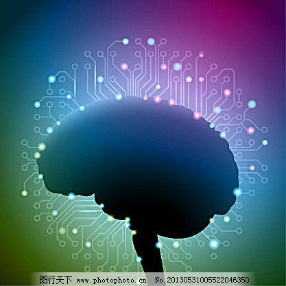 大脑电路矢量素材