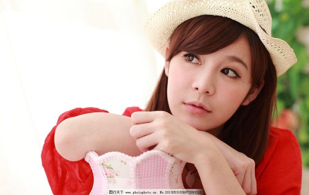 红装小清新 气质美女 清纯美女 青春活力 可爱美女 大眼美女 高清美女 女性女人 人物图库 摄影 350DPI JPG
