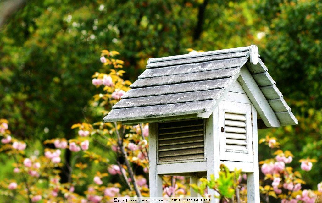 小木屋 气象用品 欧式 白色 竖立 生活素材 生活百科 摄影 180dpi jpg