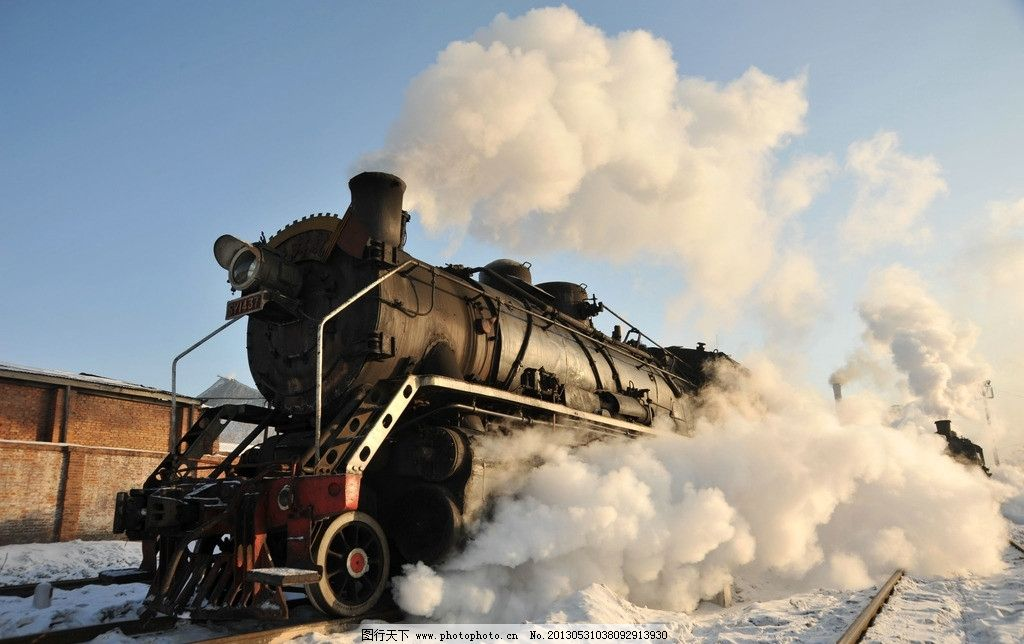 蒸汽机车 蒸汽机 蒸汽火车 老式火车 交通工具 现代科技 摄影 300dpi