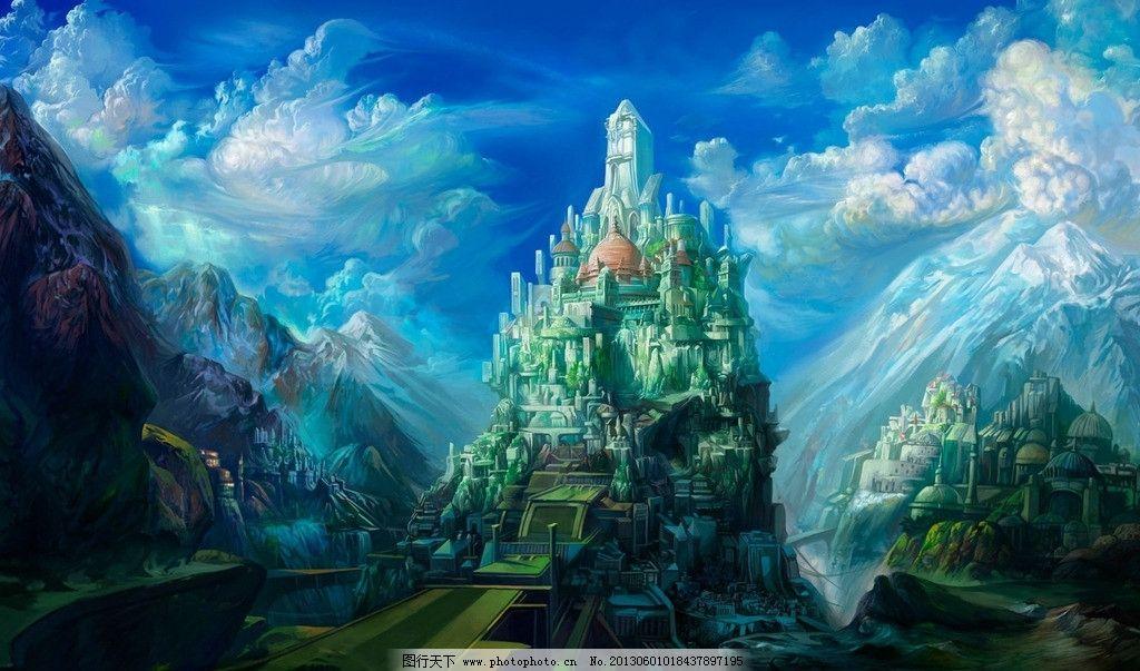 艺术 绘画 板绘 手绘 高清壁纸 宽屏壁纸 壁纸 风景漫画 动漫动画