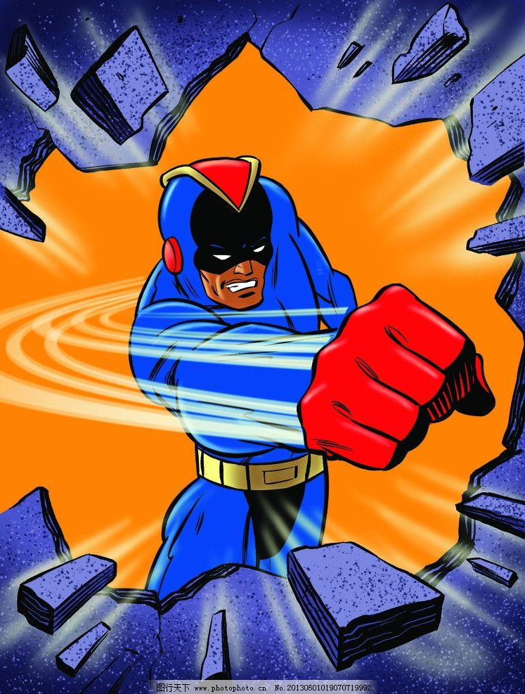 插画 拳头 超人 手绘 动漫 动画 力量 绘画书法 文化艺术 设计 180dpi