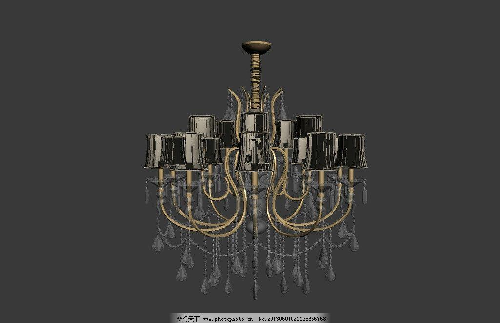 水晶灯模型 欧式水晶灯模型 水晶灯 吊灯 吊灯模型 效果图3d文件 室