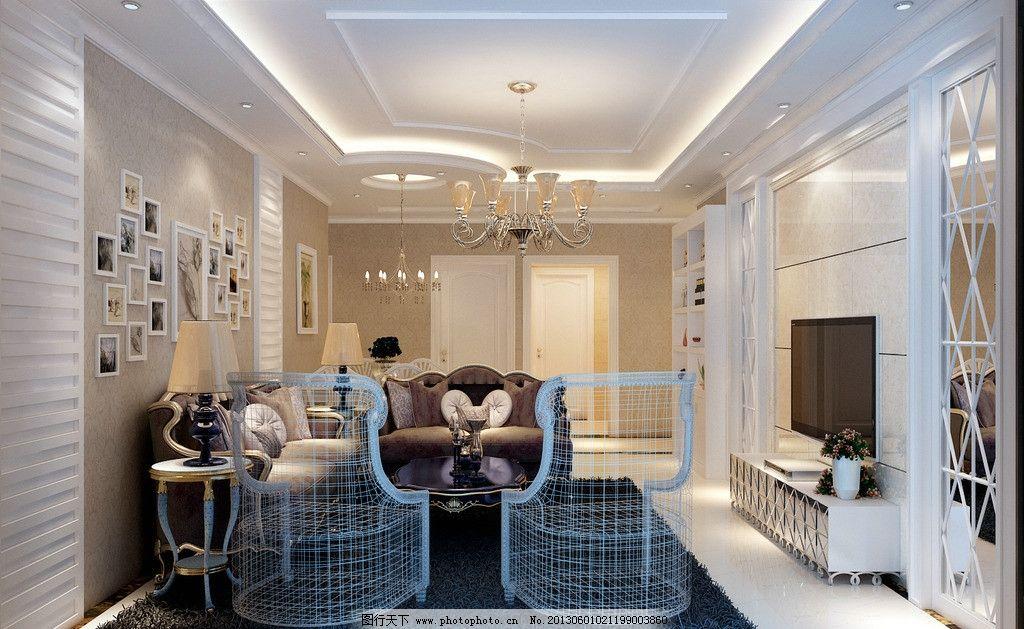 简单欧式客厅图片