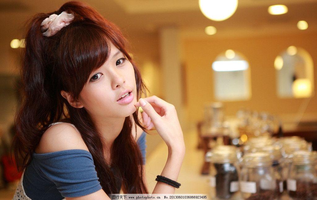 咖啡厅美女 气质美女 青春活力 小清新 可爱美女 清纯美女 高清美女