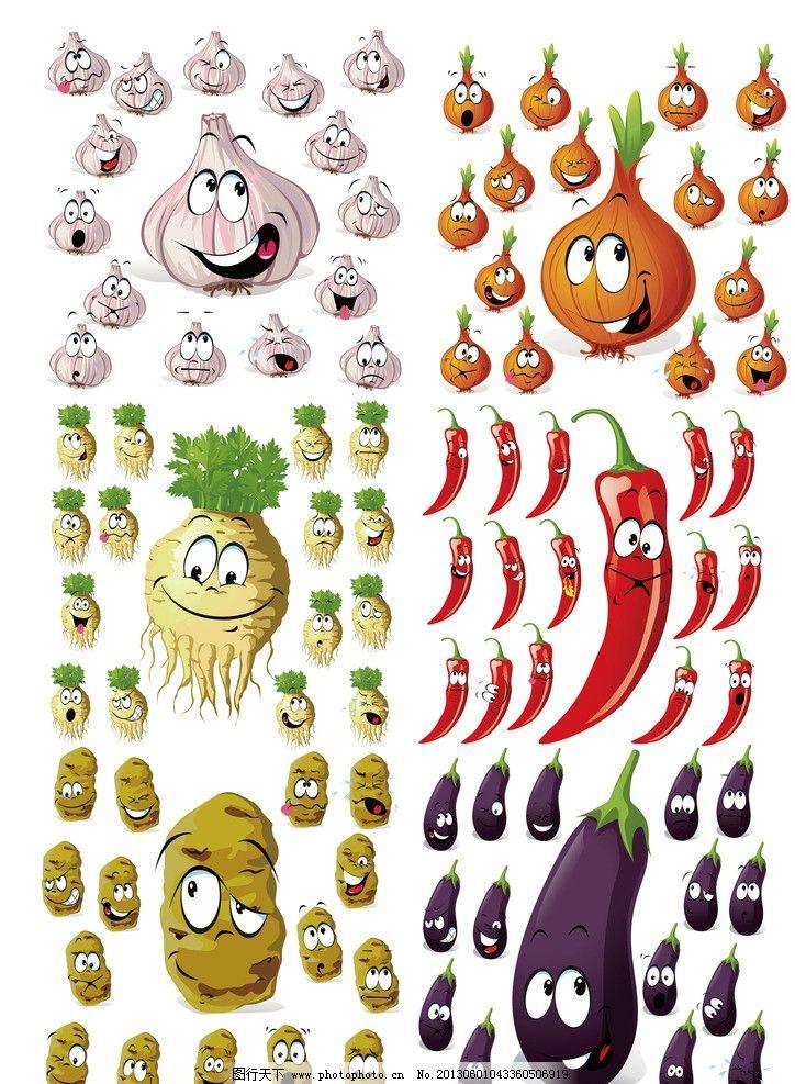 卡通蔬菜表情大全图片