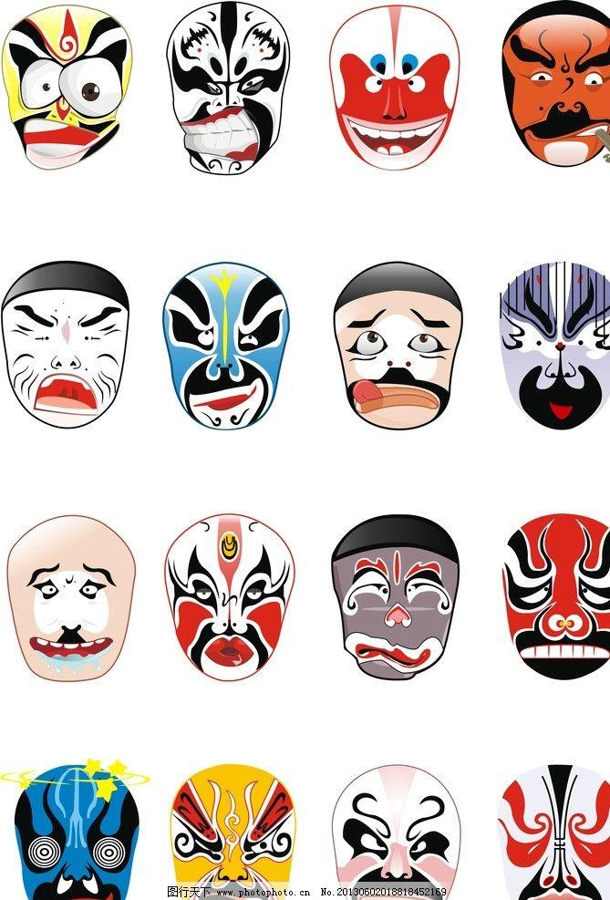 简易脸谱画法与步骤