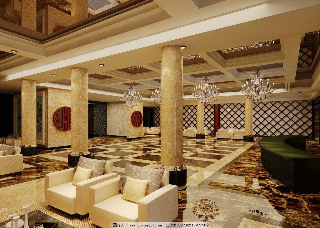 中式酒店大堂图片图片