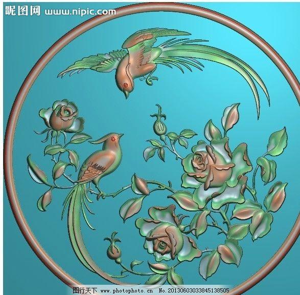 月季花 精雕图 浮雕图 灰度图 电脑雕刻图 其他 源文件 jdp