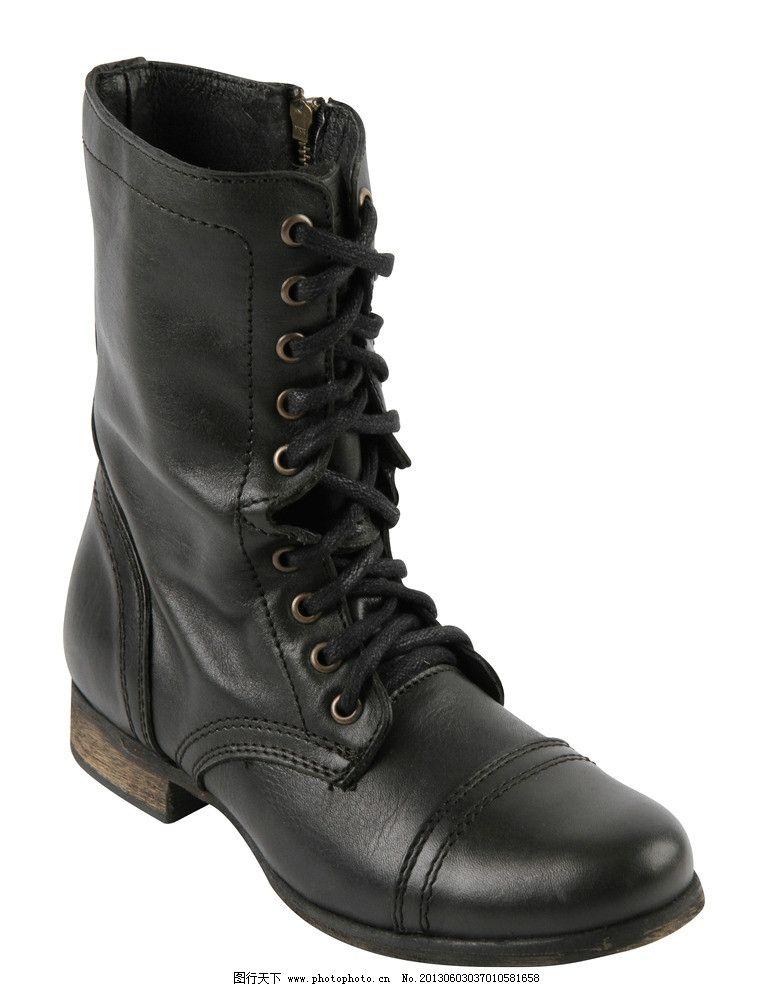靴子 皮靴 boot 中筒靴 单品 潮流 时尚 朋克 复古 绑带 马丁靴 女鞋