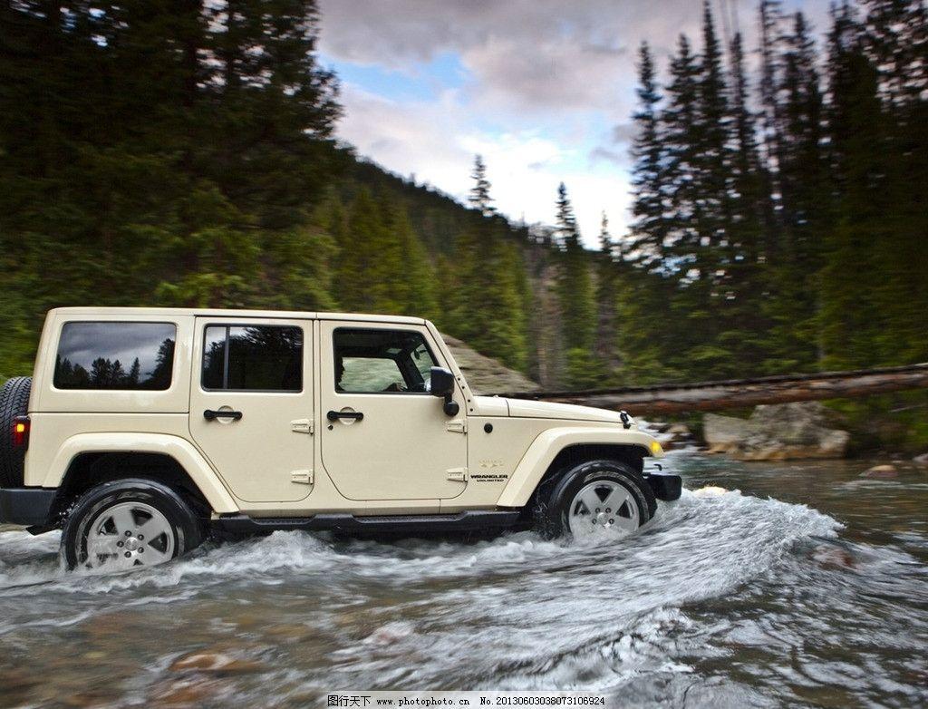 jeep牧马人 汽车 越野 风景 交通工具 现代科技 摄影